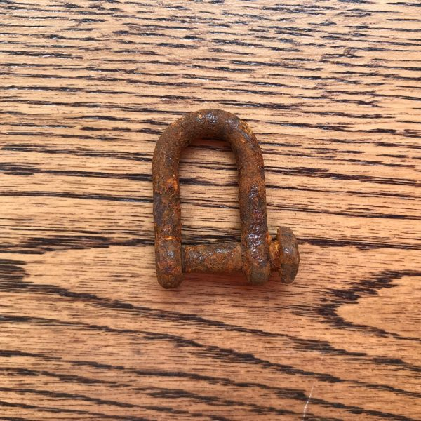 6mm rusted iron shackle