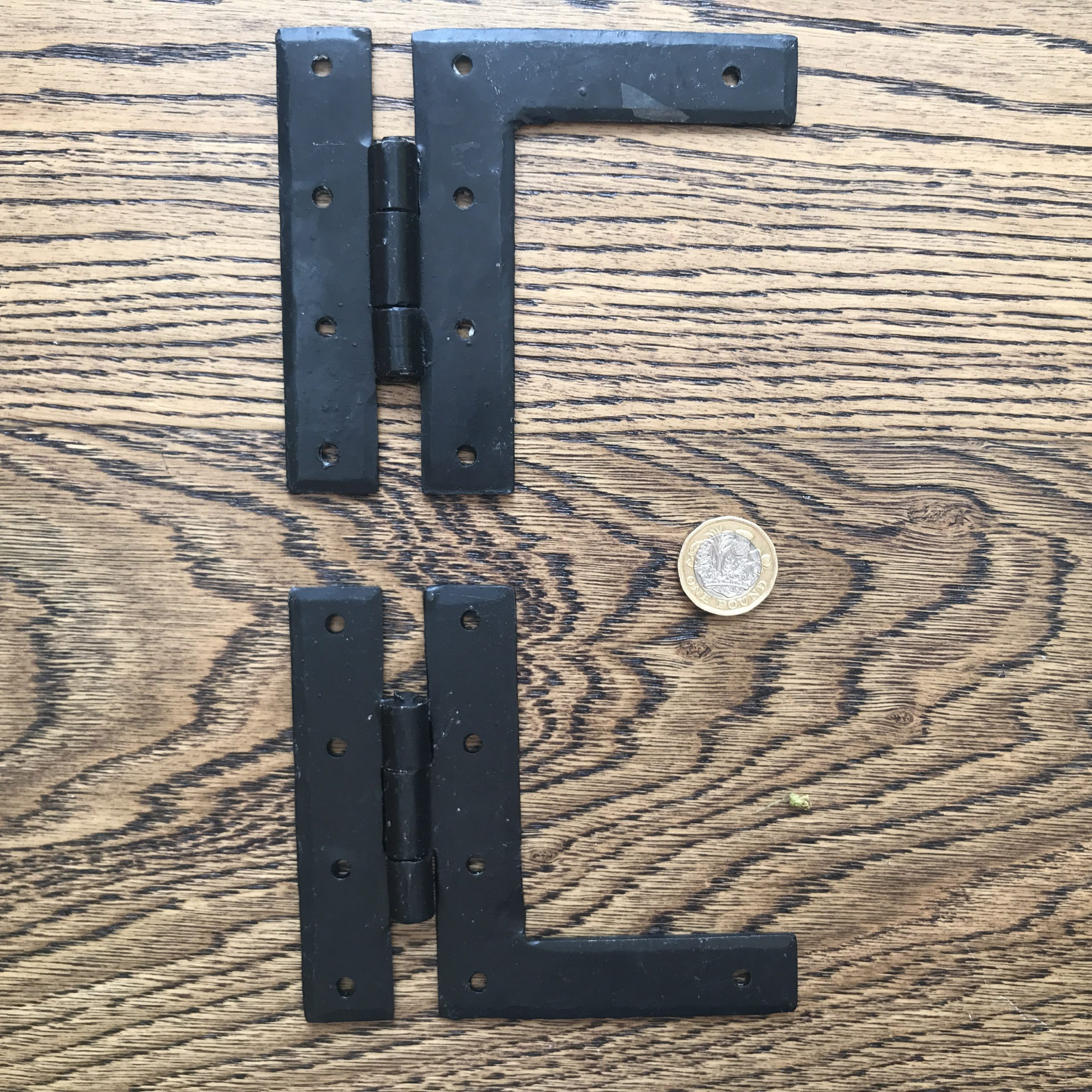 Cast Iron L Hinge (pair) 4""