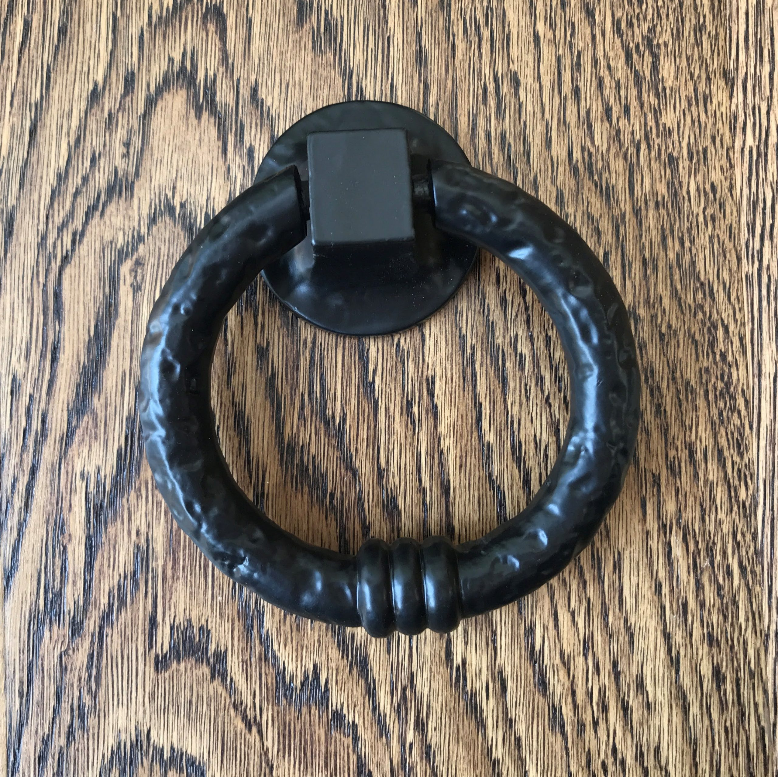 Black Cast Iron Ring Style Door Knocker