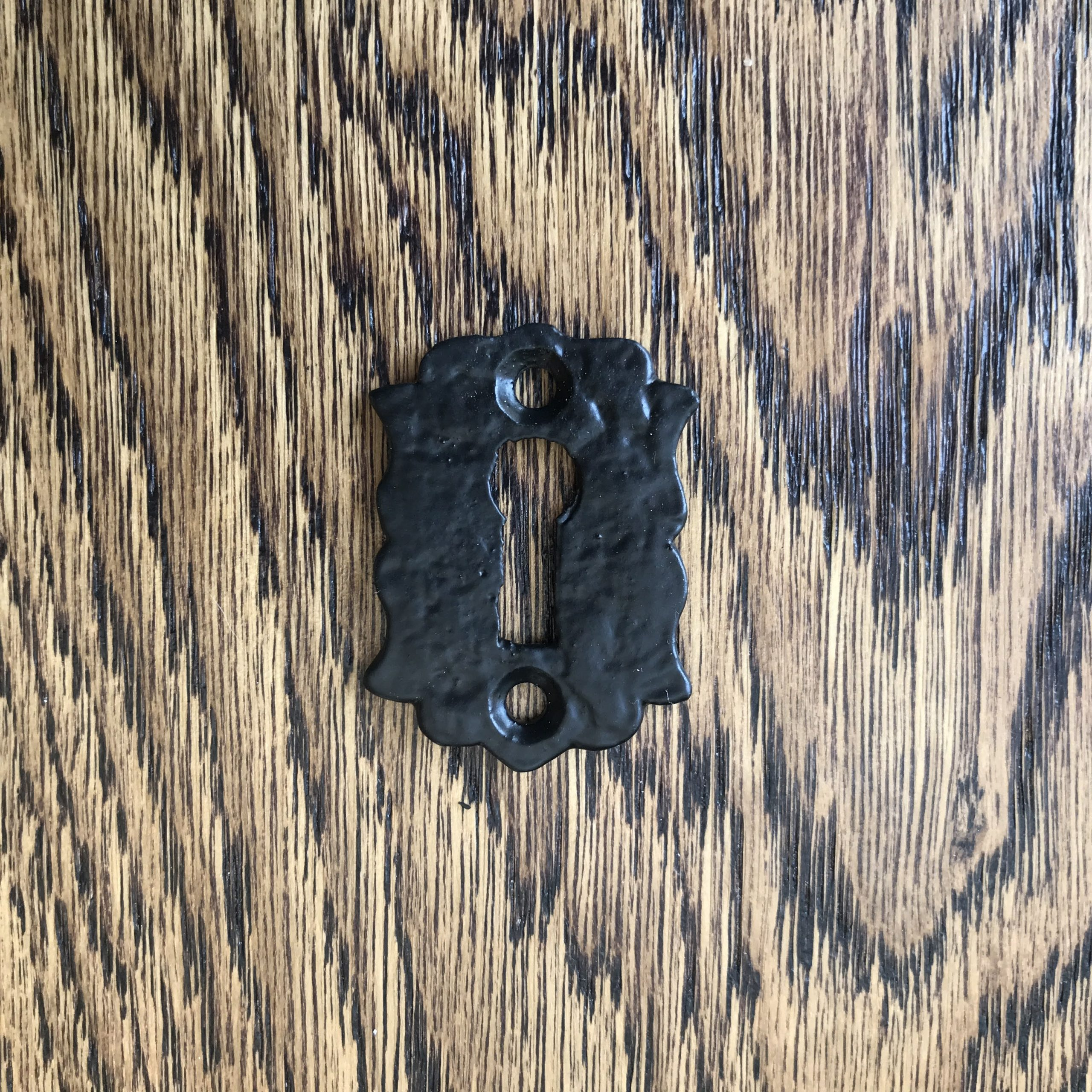 Cottage Style Cast Iron Black Escutcheon