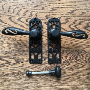 Black Bathroom Door Handle Privacy Set