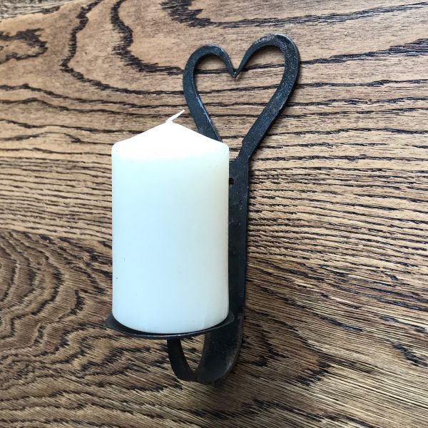 Open Heart Candle Holder 8""