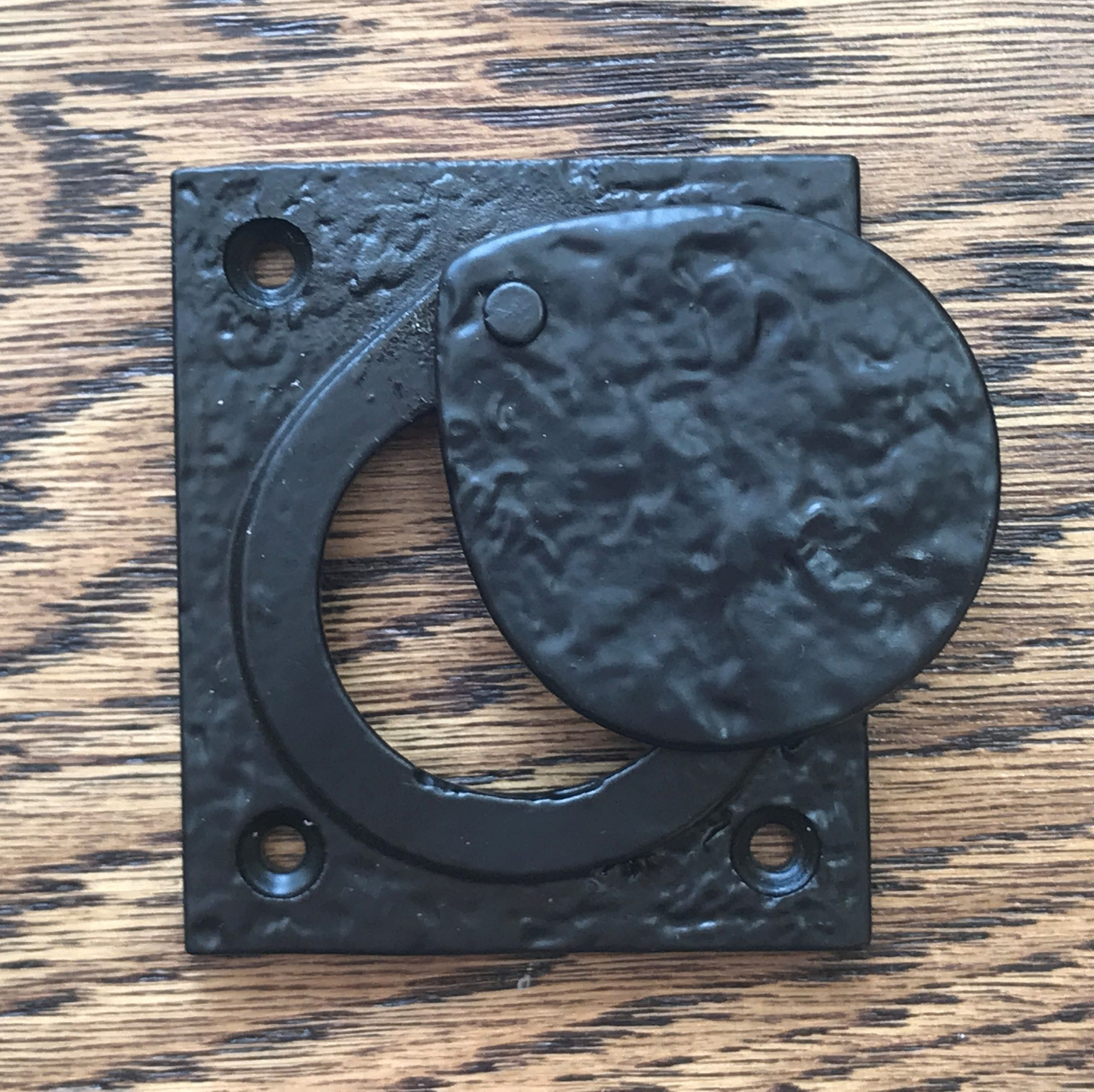 Square Black Cast Iron Yale Lock Cover
