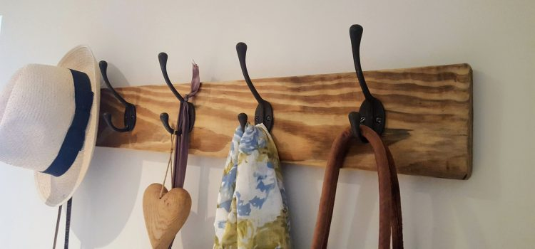 Minimise the back to school mess with a DIY coat rack