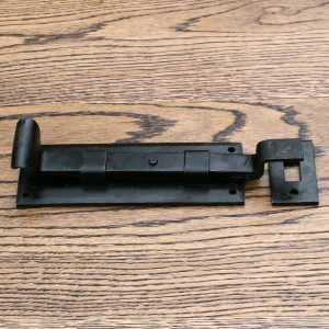 Vintage Wrought Iron Plain Slide Bolt Cranked 6u2033