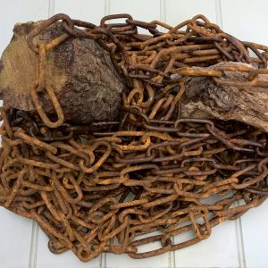 Antique Rusted Metal Chain 6mm Link