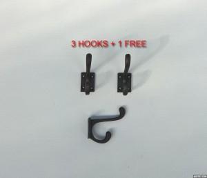 3x Small Coat Hook +1 Free