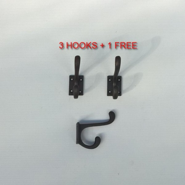 3x Small Coat Hook +1 Free