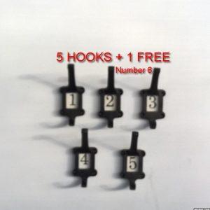 5x School Coat Hook +1 Free