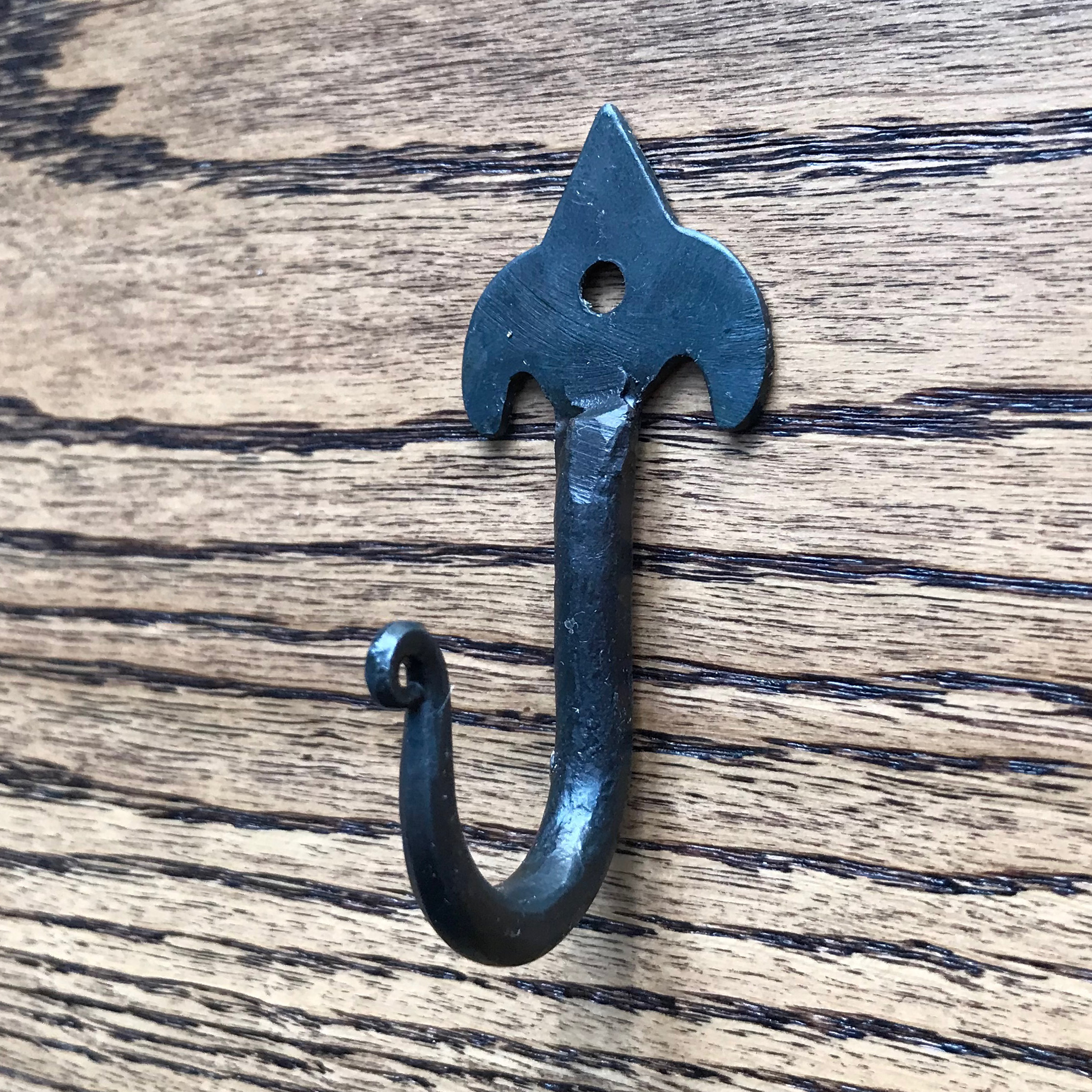 black iron hook