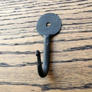 Wrought Iron Penny End Hook 3""