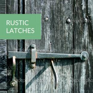 rustic door latches