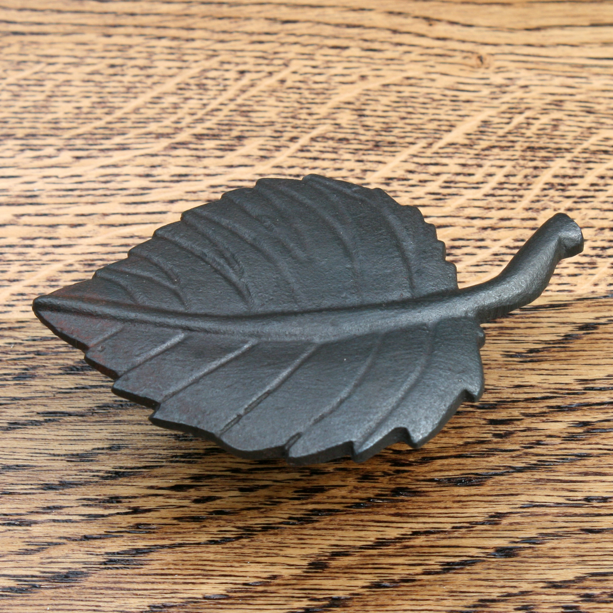 Beech Leaf Design Cast Iron Cabinet Knob 90mm