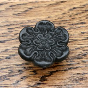 Cast Iron Rose of York Cabinet Knob 33mm