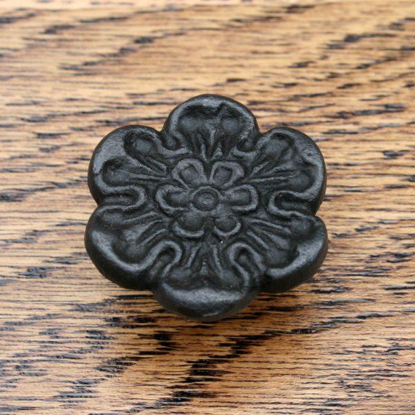 Cast Iron Rose of York Cabinet Knob 33mm