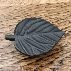Hazel Leaf Design Cast Iron Cabinet Knob 73mm