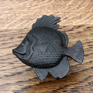 Cast Iron Cabinet Knob Tropical Fish Design 63mm