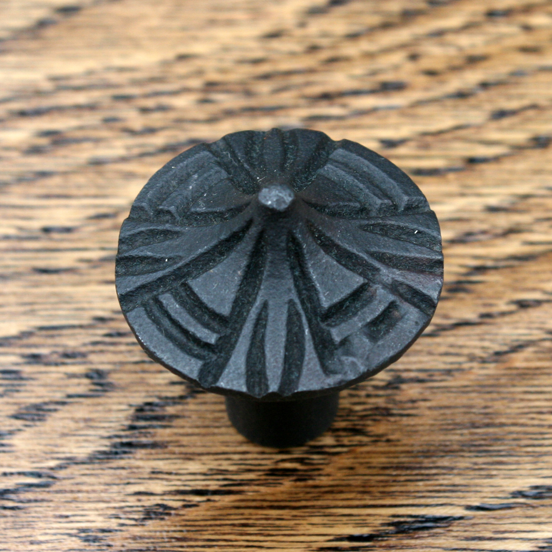 Contemporary Cast Iron Cabinet Knob 31mm
