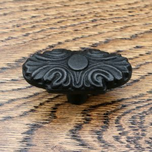 Oval Jacquard Cast Iron Cabinet Knob 58mm