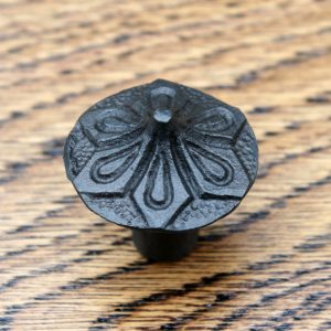 Cast Iron Cabinet Knob 32mm with Petal Detailing