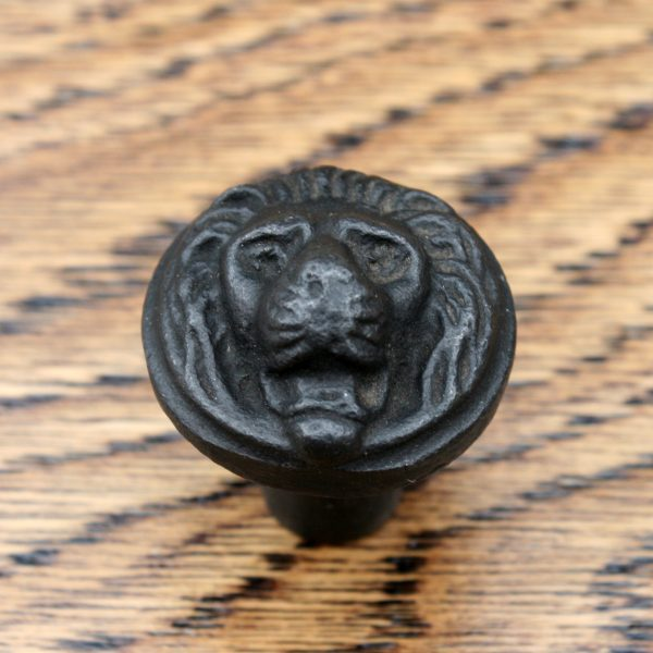 Cast Iron Cabinet Knob Lion Head 26mm