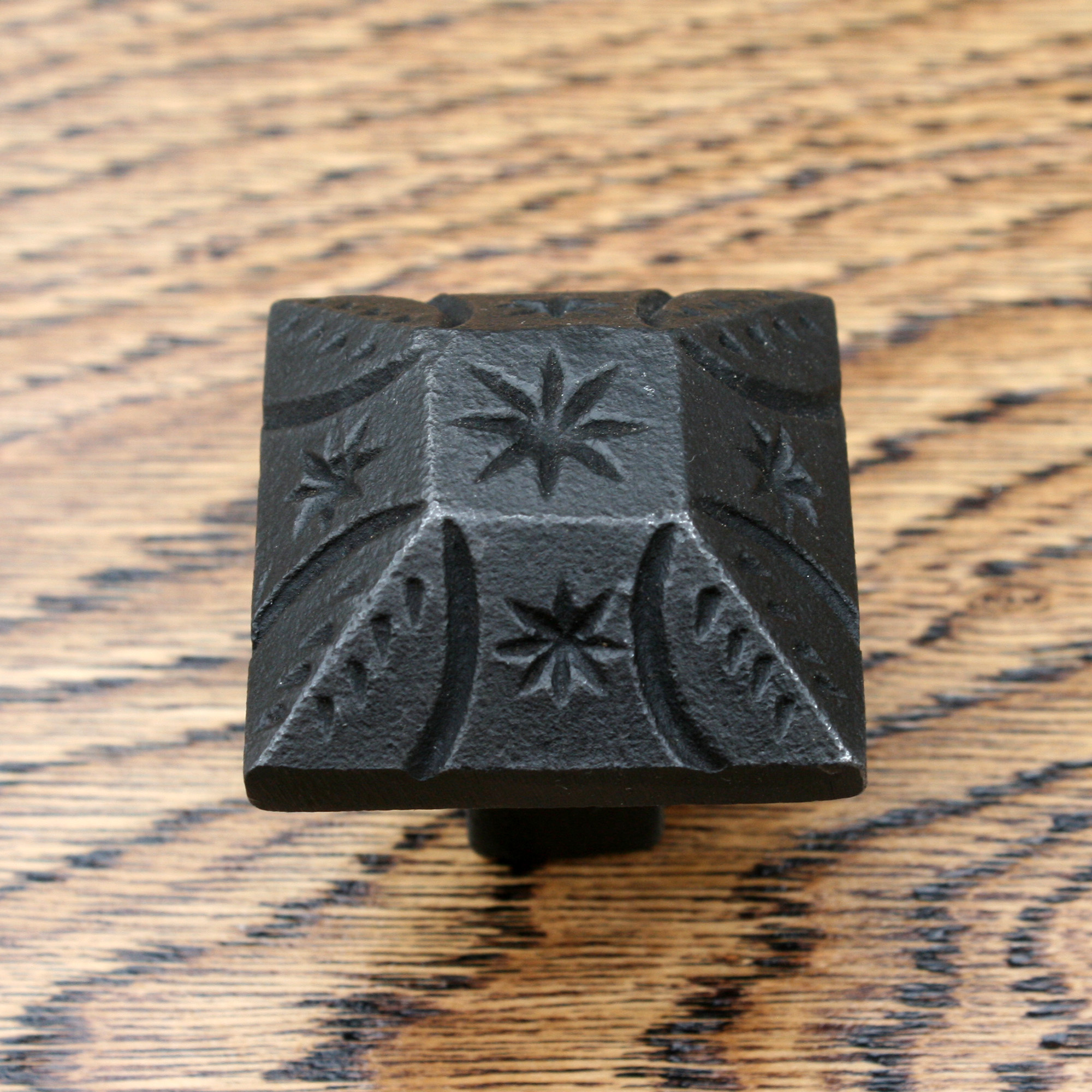 Smooth Sided Inca Pyramid Cast Iron Cabinet Knob 38mm