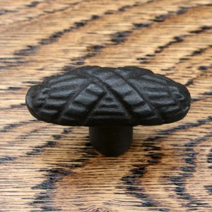 Oval Textured Cast Iron Cabinet Knob 45mm