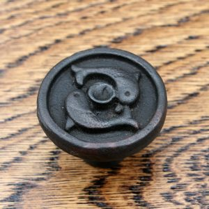 Pair of Dolphins Cast Iron Cabinet Knob 38mm