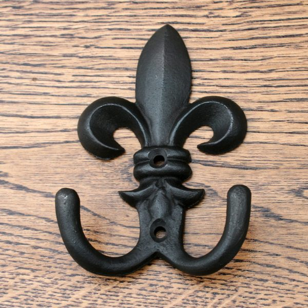 "Fleur De Lys Coat Hook 4"""