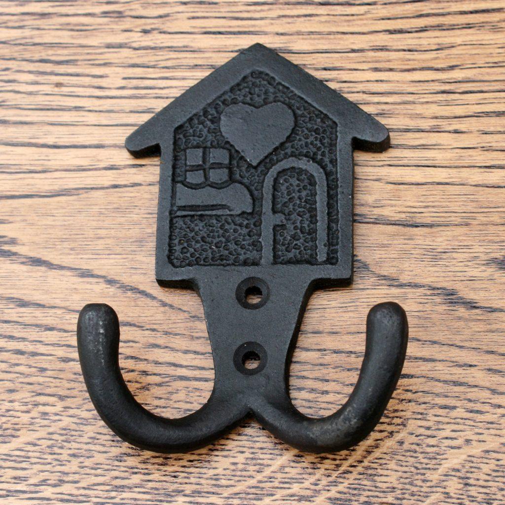 "Home Sweet Home Coat Hook 4"""