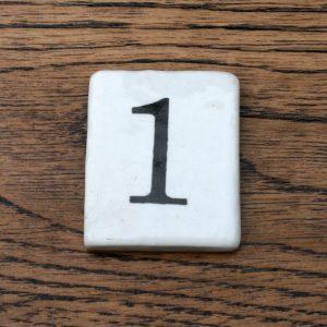 Ceramic Inserts for Schools Coat Hook 1 to 12
