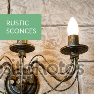 rustic sconces