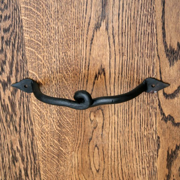 Twisted Iron Pull Handle 9""